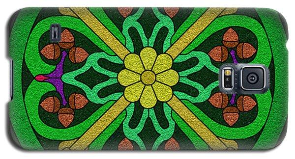 Acorn On Dark Green Galaxy S5 Case