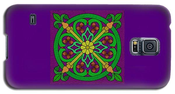 Acorn On Dark Purple Galaxy S5 Case