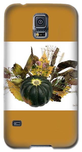 Galaxy S5 Case featuring the digital art Acorn Squash Bouquet by Lise Winne