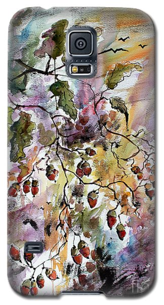 Galaxy S5 Case featuring the painting Acorns Autumn Expression by Ginette Callaway