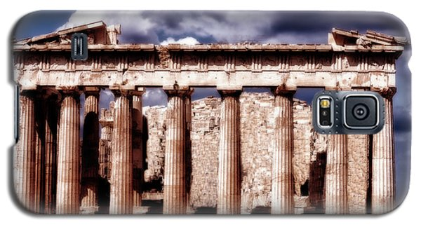 Galaxy S5 Case featuring the photograph Acropolis Of Greece by Linda Constant