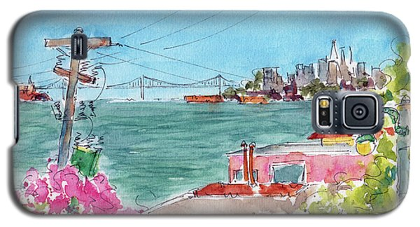 Galaxy S5 Case featuring the painting Across The Bay From Sausalito by Pat Katz