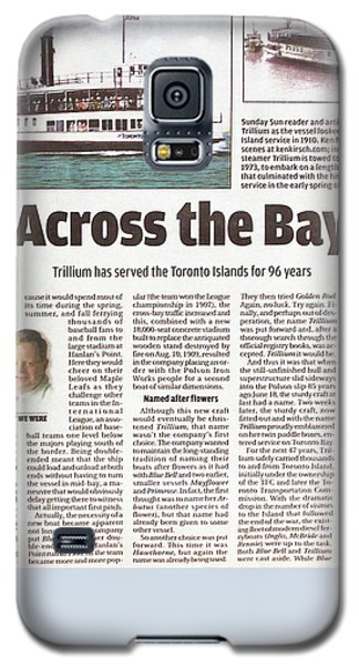 Galaxy S5 Case featuring the painting Toronto Sun Article Across The Bay by Kenneth M Kirsch