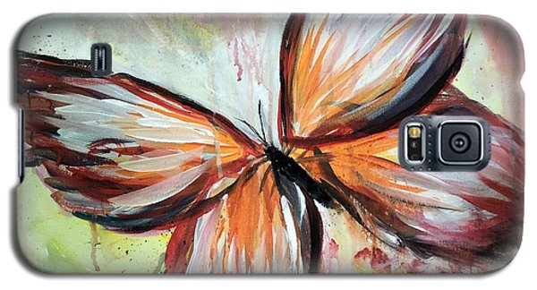 Galaxy S5 Case featuring the painting Acrylic Butterfly by Tom Riggs