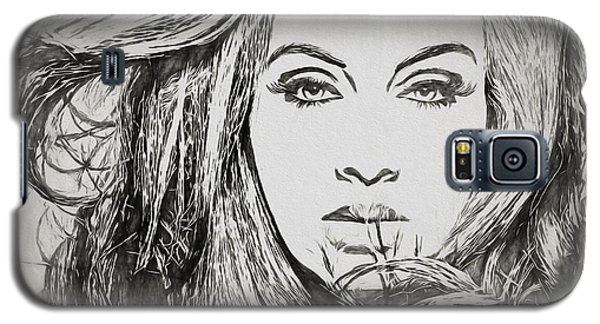 Adele Charcoal Sketch Galaxy S5 Case