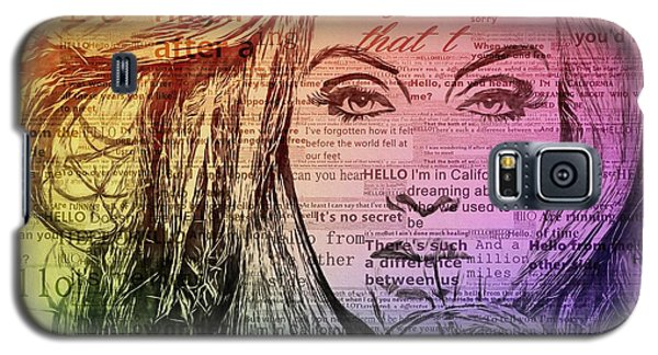 Adele Hello Typography  Galaxy S5 Case by Dan Sproul