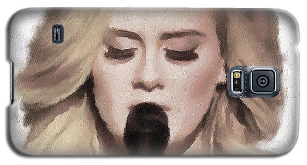 Adele Portrait Hello Galaxy S5 Case by Yury Malkov