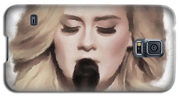 Adele Galaxy S5 Case - Adele Portrait Hello by Yury Malkov