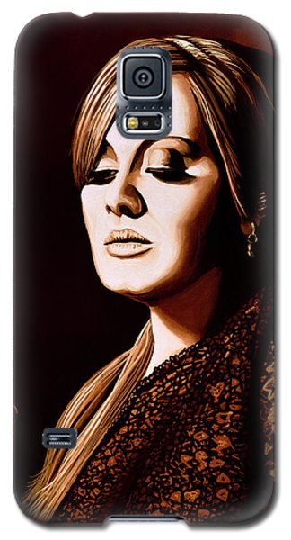 Adele Skyfall Gold Galaxy S5 Case by Paul Meijering