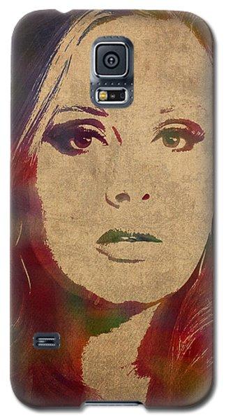 Adele Watercolor Portrait Galaxy S5 Case by Design Turnpike