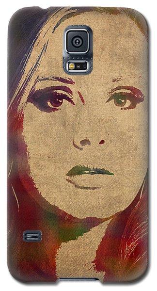 Adele Galaxy S5 Case - Adele Watercolor Portrait by Design Turnpike