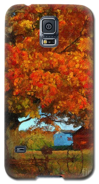 Galaxy S5 Case featuring the painting Adirondack Autumn Color Brush by Diane E Berry