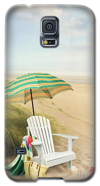 Adirondack Chair And Umbrella By The Seaside Galaxy S5 Case