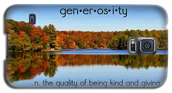 Galaxy S5 Case featuring the photograph Adirondack October Generosity by Diane E Berry