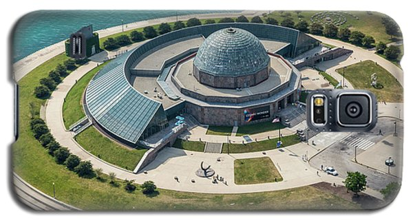Galaxy S5 Case featuring the photograph Adler Planetarium Aerial by Adam Romanowicz