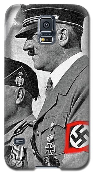 Adolf Hitler And Fellow Fascist Dictator Benito Mussolini October 26 1936 Number Three Color Added  Galaxy S5 Case