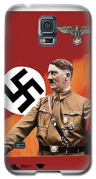 Adolf Hitler In Color With Nazi Symbols Unknown Date Additional Color Added 2016 Galaxy S5 Case