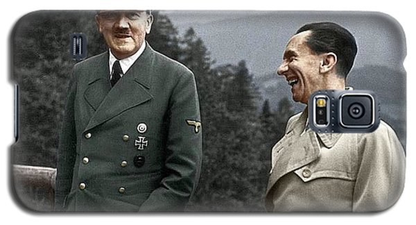 Adolf Hitler Joseph Goebbels Berghof Retreat  Number 2 Agfacolor Heinrich Hoffman Photo Circa 1942 Galaxy S5 Case