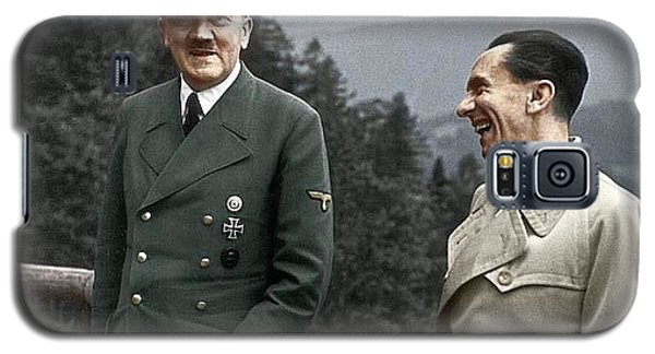 Adolf Hitler Joseph Goebbels Berghof Retreat  Number 2 Agfacolor Heinrich Hoffman Photo Circa 1942 Galaxy S5 Case