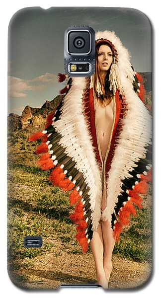 Adorned Feathered Nude Galaxy S5 Case