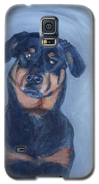Galaxy S5 Case featuring the painting Adrian by Donna Tuten