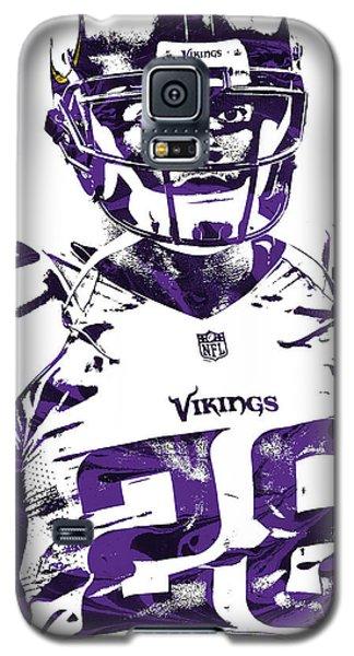 Galaxy S5 Case featuring the mixed media Adrian Peterson Minnesota Vikings Pixel Art 2 by Joe Hamilton
