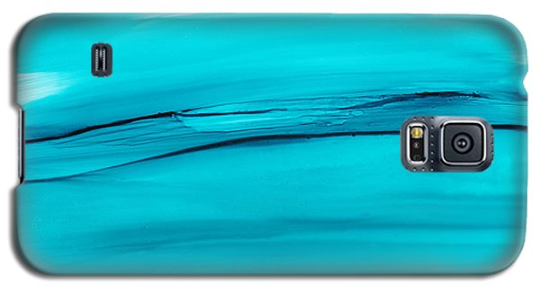 Galaxy S5 Case featuring the painting Adrift In A Sea Of Blues Abstract by Nikki Marie Smith