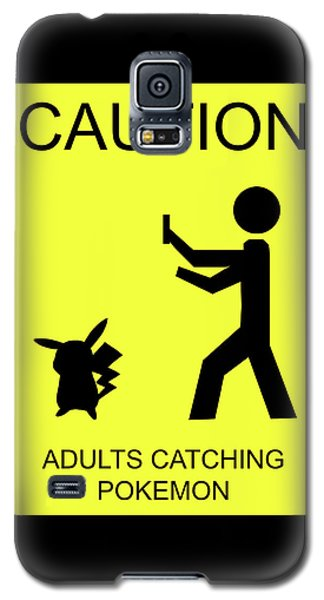 Galaxy S5 Case featuring the digital art Adults Catching Pokemon 1 by Shane Bechler