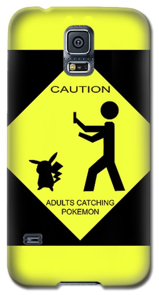 Galaxy S5 Case featuring the digital art Adults Catching Pokemon 2 by Shane Bechler