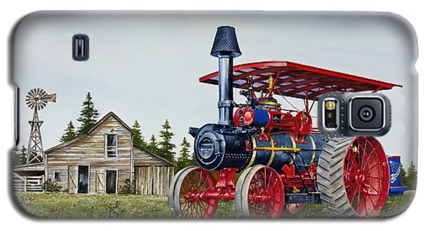 Galaxy S5 Case featuring the painting Advance Rumely Steam Traction Engine by James Williamson