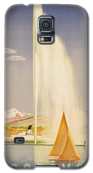 Seascape Galaxy S5 Cases - Advertisement for travel to Geneva Galaxy S5 Case by Fehr