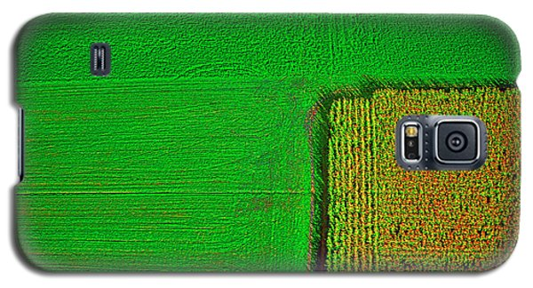 Aerial Farm Mchenry Il  Galaxy S5 Case by Tom Jelen