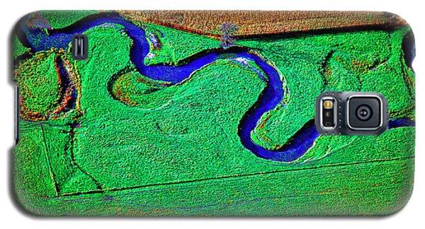 Aerial Farm Stream 3 Galaxy S5 Case