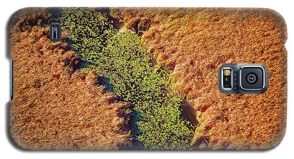 Aerial Farm Stream Lillies  Galaxy S5 Case