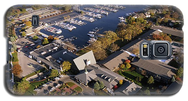 Aerial Of The Abbey Resort And Harbor - Fontana Wisconsin Galaxy S5 Case