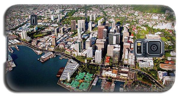 Aerial Panorama - Downtown - City Of Honolulu, Oahu, Hawaii  Galaxy S5 Case