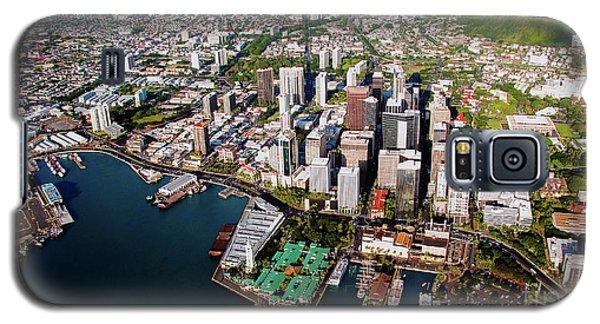 Aerial Panorama - Downtown - Honolulu, Oahu, Hawaii  Galaxy S5 Case