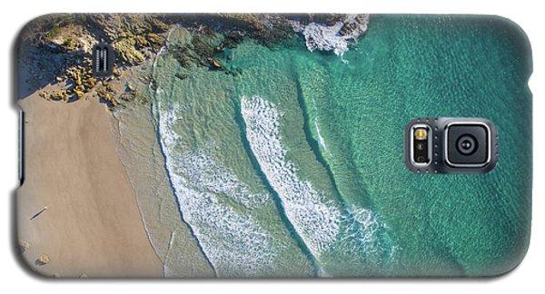 Aerial Shot Of Honeymoon Bay On Moreton Island Galaxy S5 Case