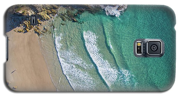 Aerial Shot Of Honeymoon Bay On Moreton Island Galaxy S5 Case