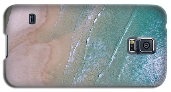 Aerial View Of Beach And Wave Patterns Galaxy S5 Case