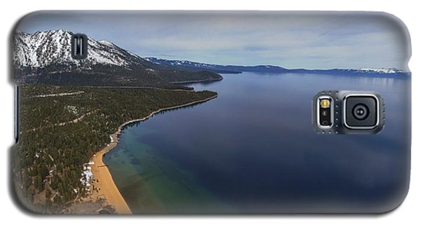 Aerial View Of Ski Beach, Lake Tahoe Galaxy S5 Case