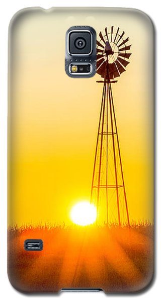 Aermotor Sunset Galaxy S5 Case by Chris Bordeleau