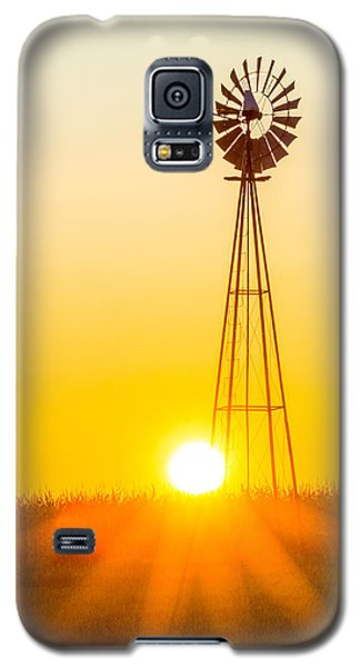 Aermotor Sunset Vertical Galaxy S5 Case by Chris Bordeleau