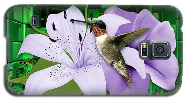 Galaxy S5 Case featuring the mixed media Aeronautics Humming Bird by Marvin Blaine