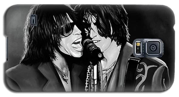 Steven Tyler Galaxy S5 Case - Aerosmith Toxic Twins Mixed Media by Paul Meijering