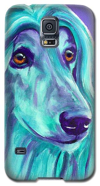Afghan Hound - Aqua Galaxy S5 Case
