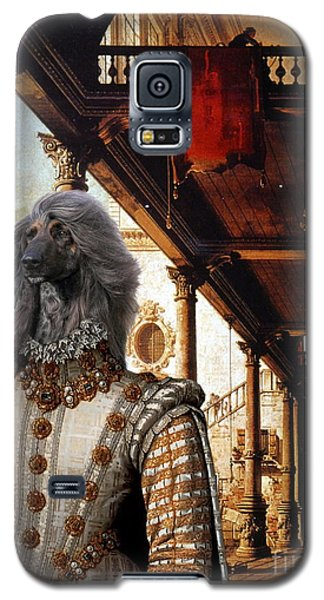 Afghan Hound-capriccio Of Colonade And The Courtyard Of A Palace Canvas Fine Art Print Galaxy S5 Case