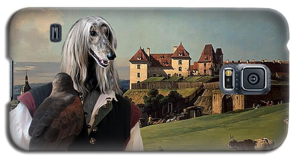 Afghan Hound-falconer And Castle Canvas Fine Art Print Galaxy S5 Case