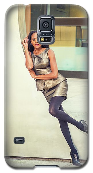African American Business Woman Fashion In New York Galaxy S5 Case