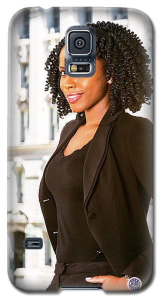 African American Businesswoman Working In New York Galaxy S5 Case